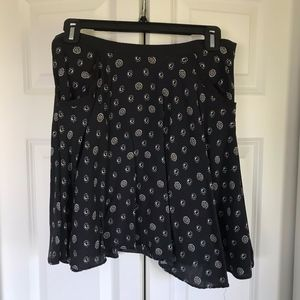Urban Outfitters Navy Floral Printed Skirt